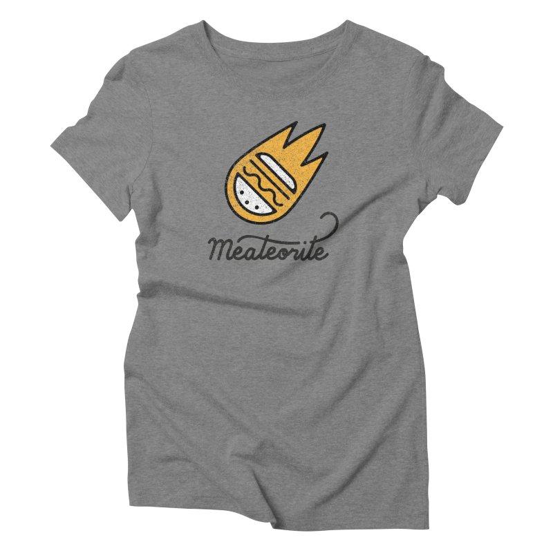 Meateorite Women's Triblend T-Shirt by Karina Zlott