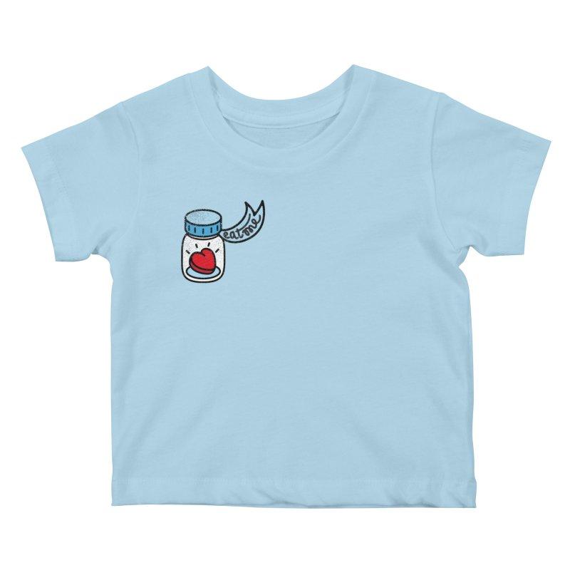Eat Me Kids Baby T-Shirt by Karina Zlott