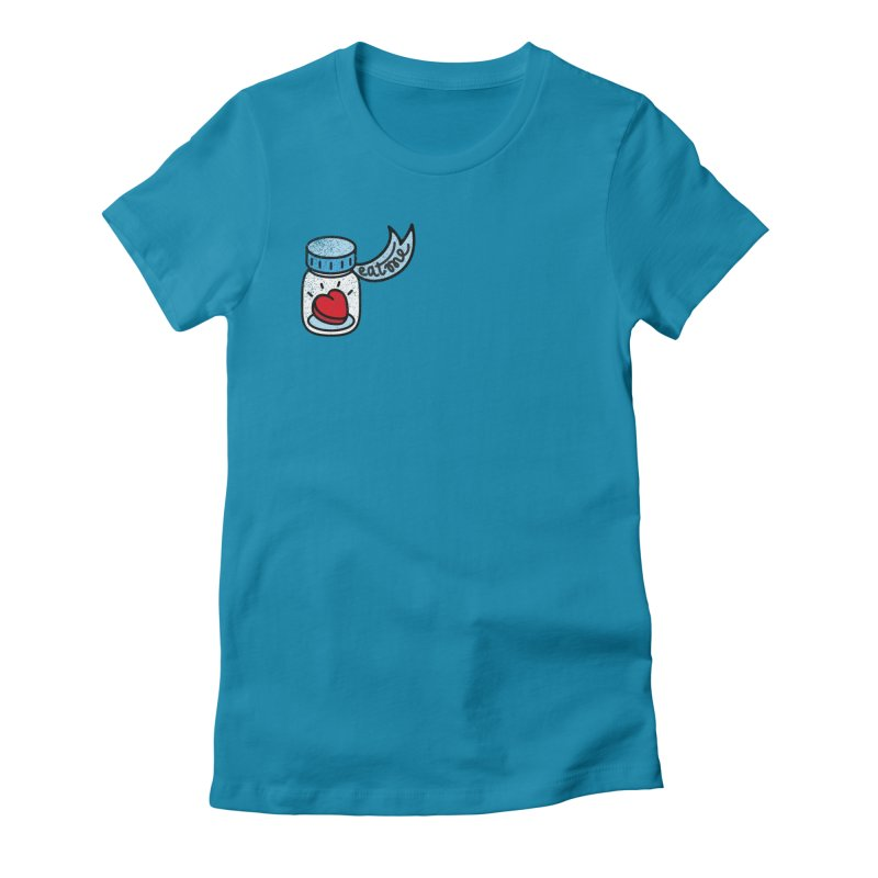 Eat Me Women's Fitted T-Shirt by Karina Zlott