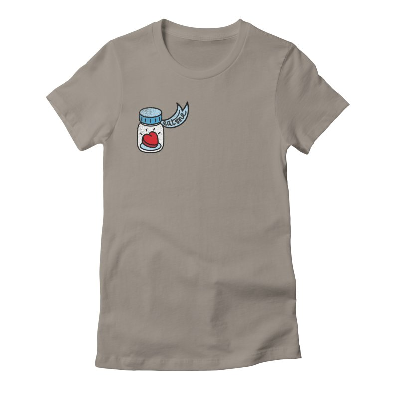 Eat Me Women's Fitted T-Shirt by Kika