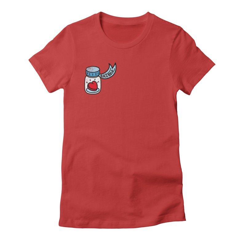 Eat Me Women's Fitted T-Shirt by Karina Zlott
