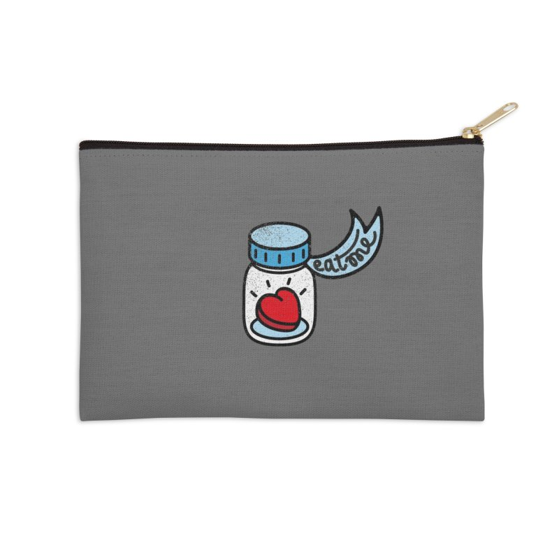 Eat Me Accessories Zip Pouch by Karina Zlott
