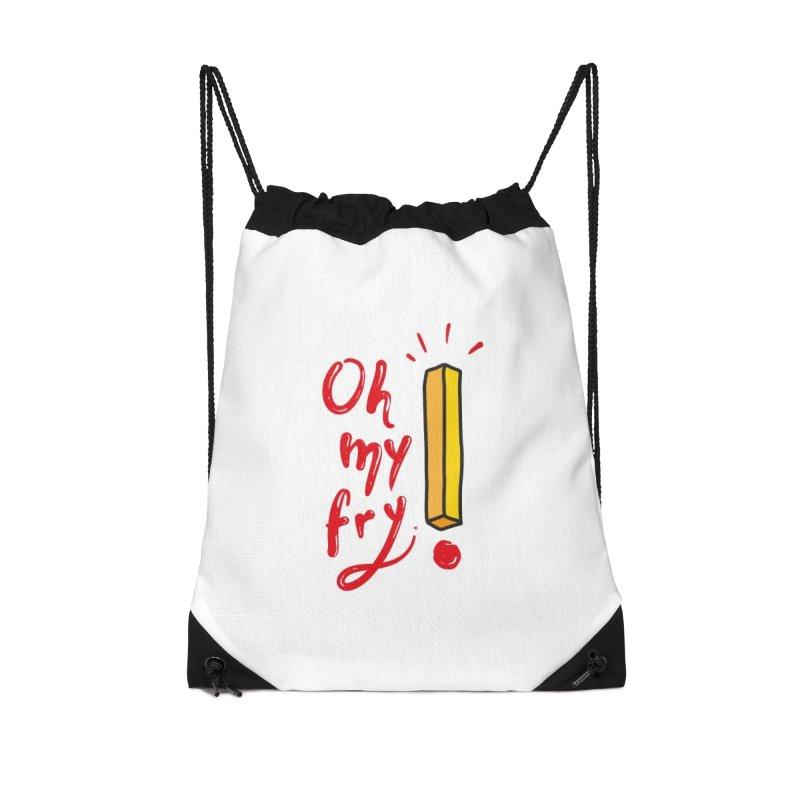Oh my fry! Accessories Drawstring Bag Bag by Kika