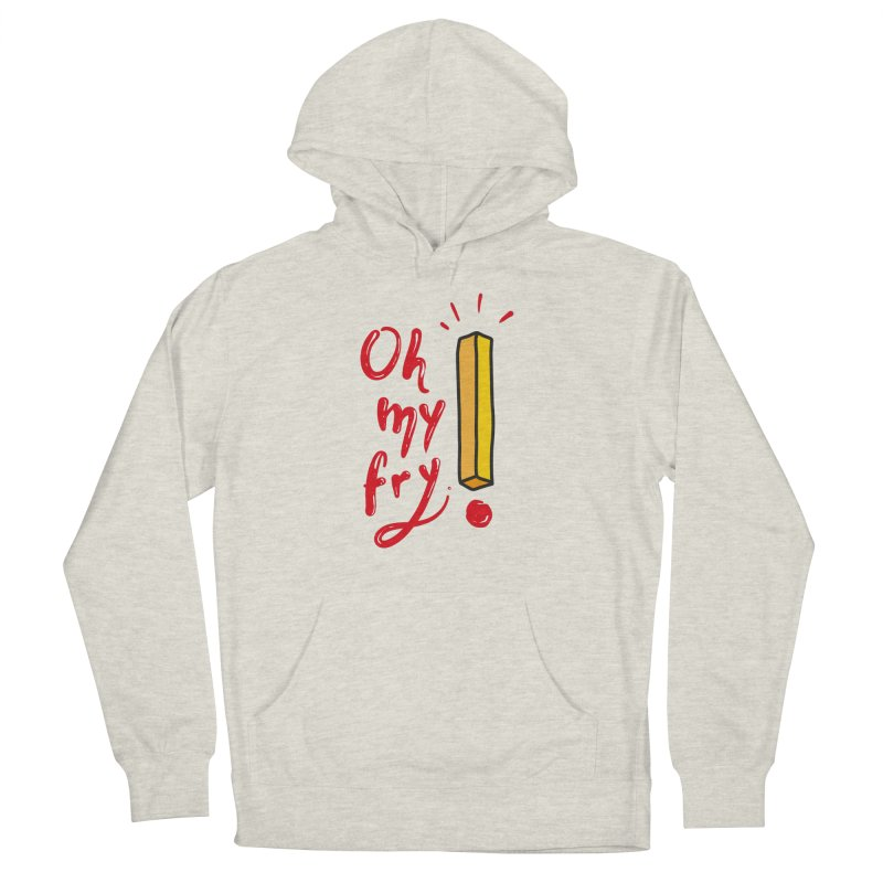 Oh my fry! Men's French Terry Pullover Hoody by Karina Zlott