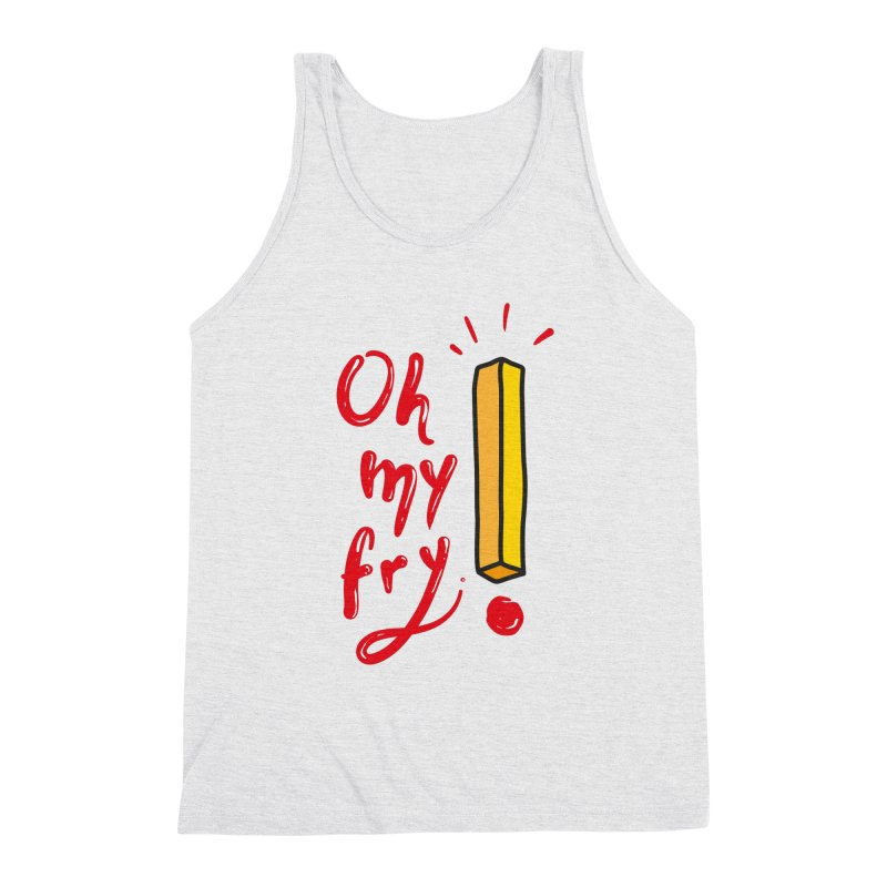 Oh my fry! Men's Triblend Tank by Kika