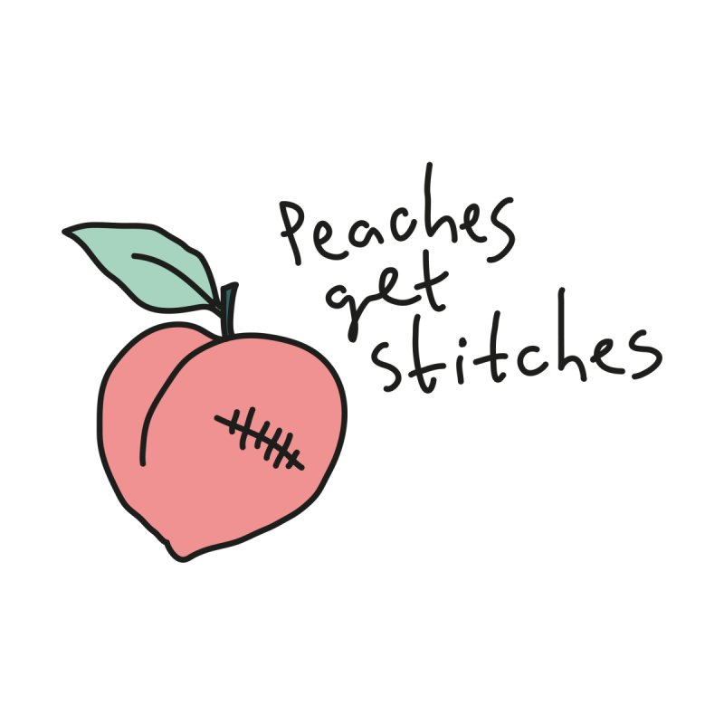 Peaches get stitches Women's Sweatshirt by Kika