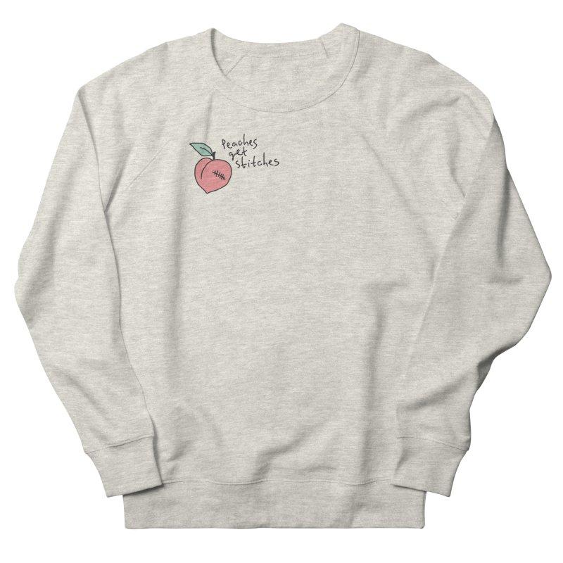 Peaches get stitches Men's Sweatshirt by Kika