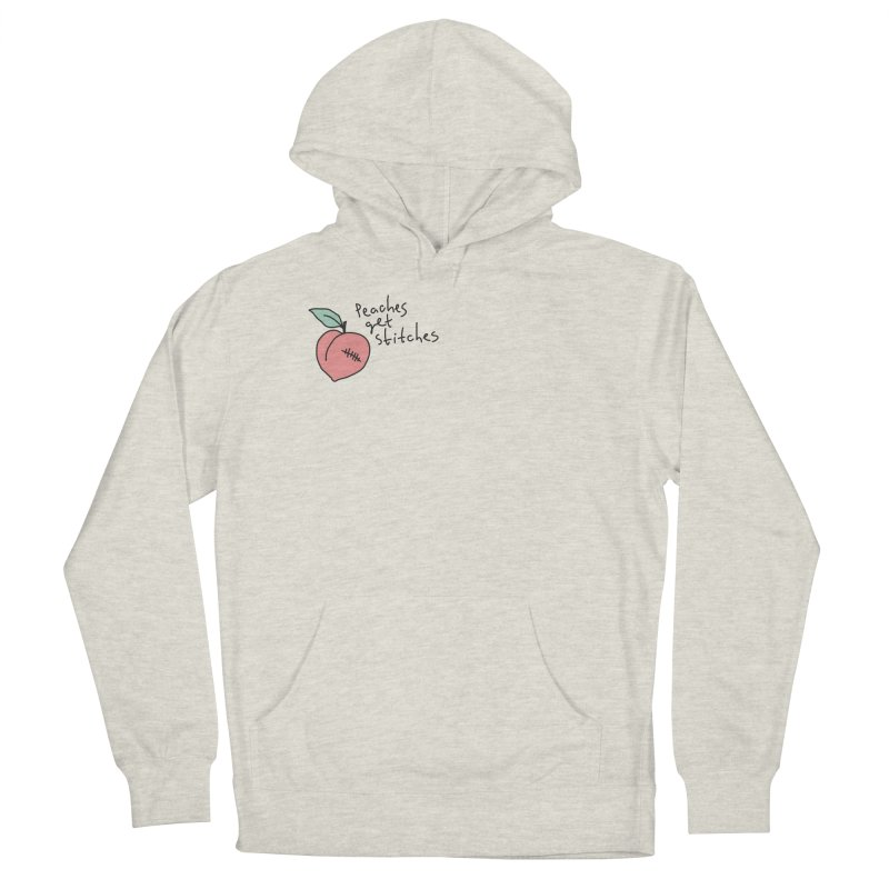 Peaches get stitches Women's French Terry Pullover Hoody by Karina Zlott