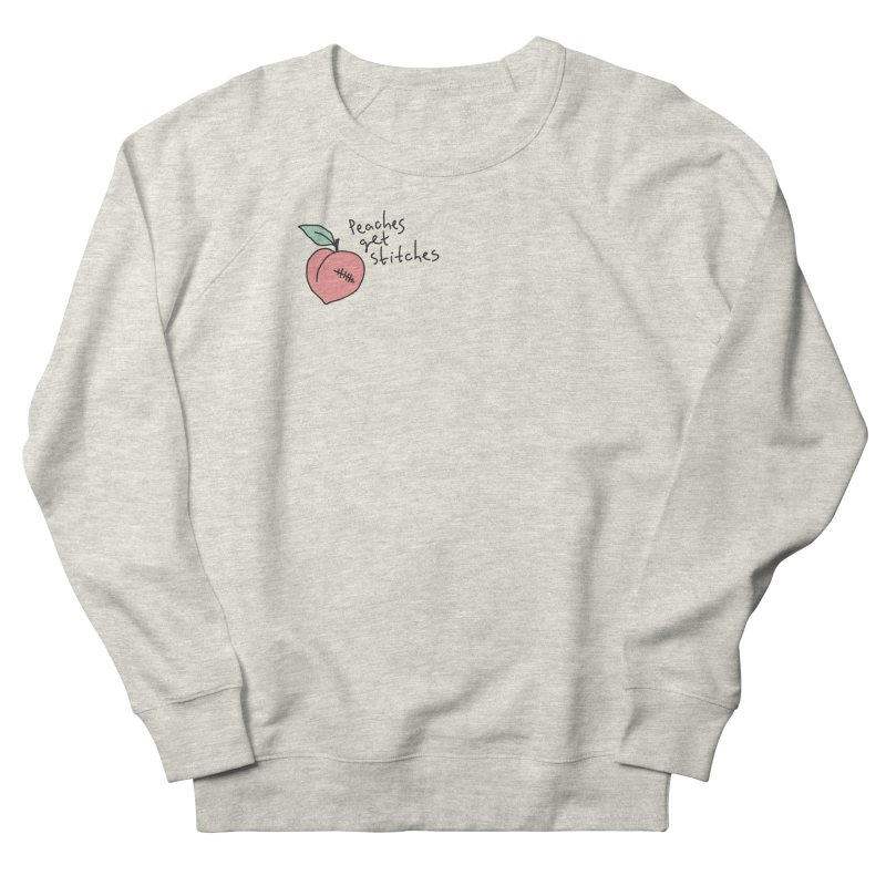 Peaches get stitches Women's French Terry Sweatshirt by Kika