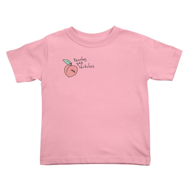 Peaches get stitches Kids Toddler T-Shirt by Kika