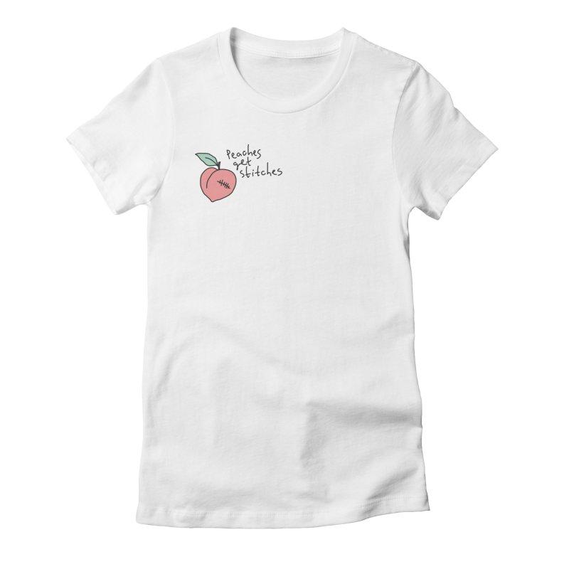 Peaches get stitches Women's T-Shirt by Kika