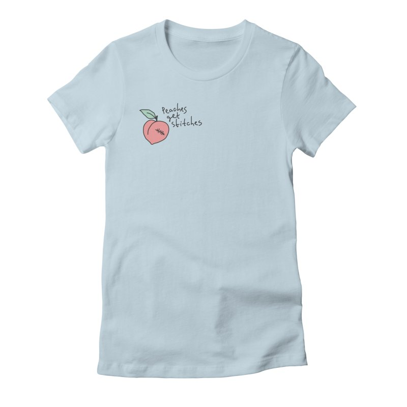 Peaches get stitches Women's T-Shirt by Kika