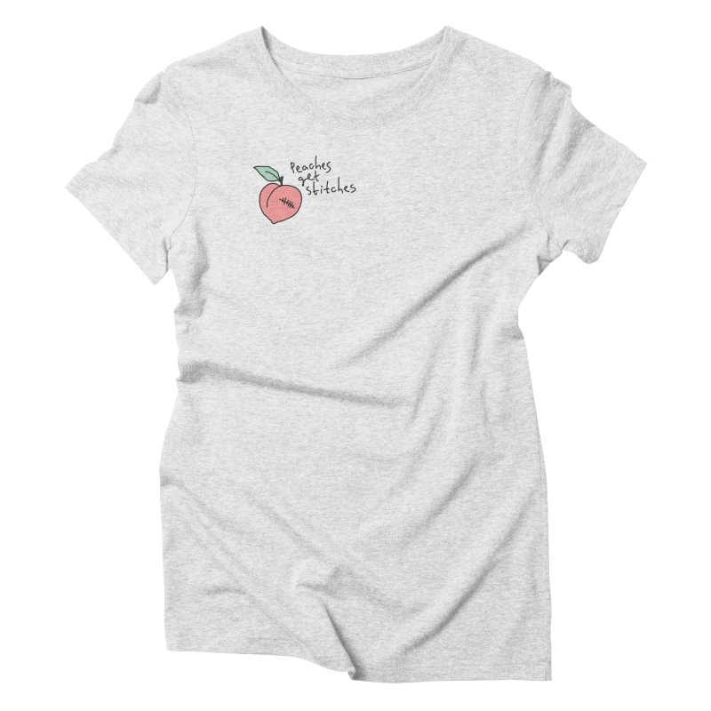 Peaches get stitches Women's Triblend T-Shirt by Kika