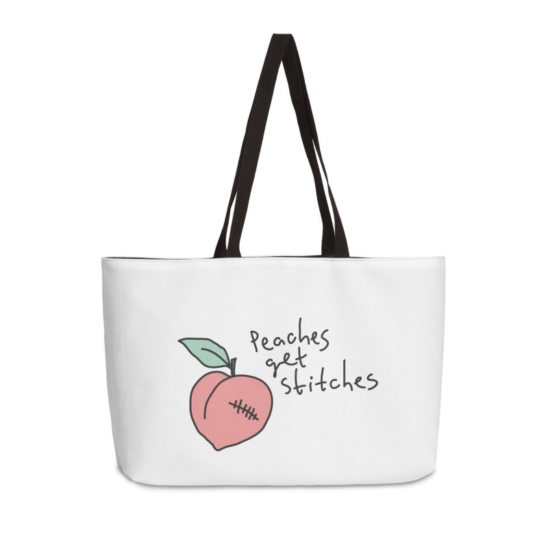 Peaches get stitches Accessories Weekender Bag Bag by Kika