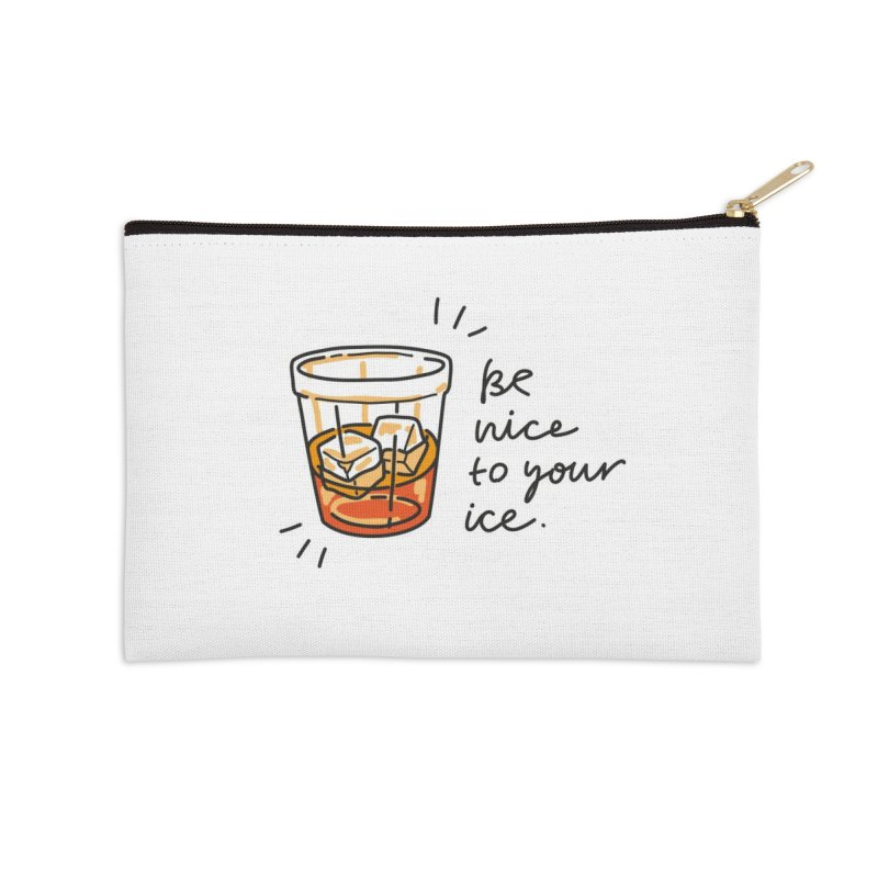 Be nice to your ice Accessories Zip Pouch by Karina Zlott