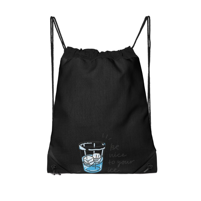 Be nice to your ice 2 Accessories Drawstring Bag Bag by Kika