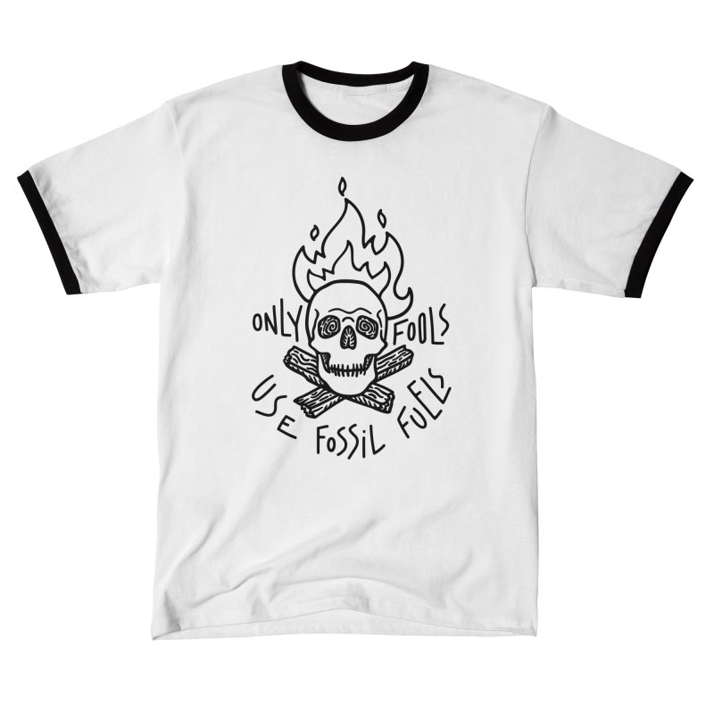Only fools use fossil fuels Men's T-Shirt by Kika