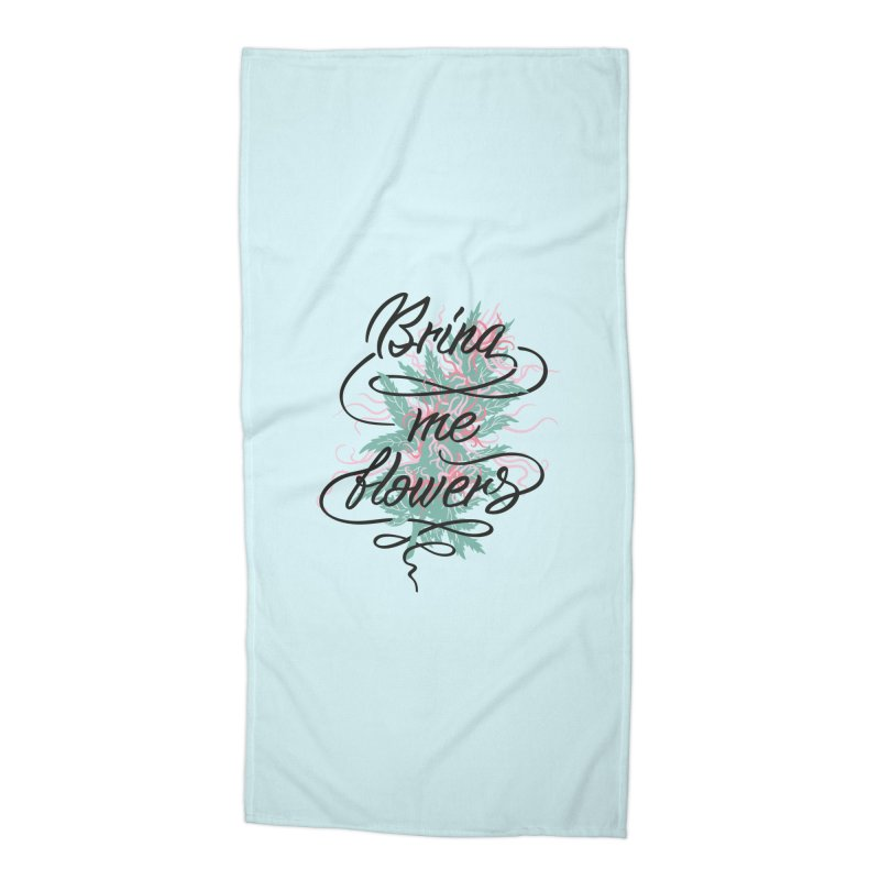 Bring me flowers Accessories Beach Towel by Karina Zlott