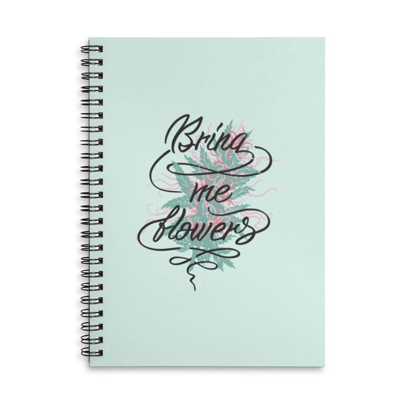Bring me flowers Accessories Lined Spiral Notebook by Kika