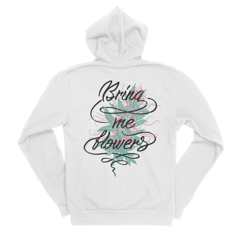Bring me flowers Men's Sponge Fleece Zip-Up Hoody by Karina Zlott