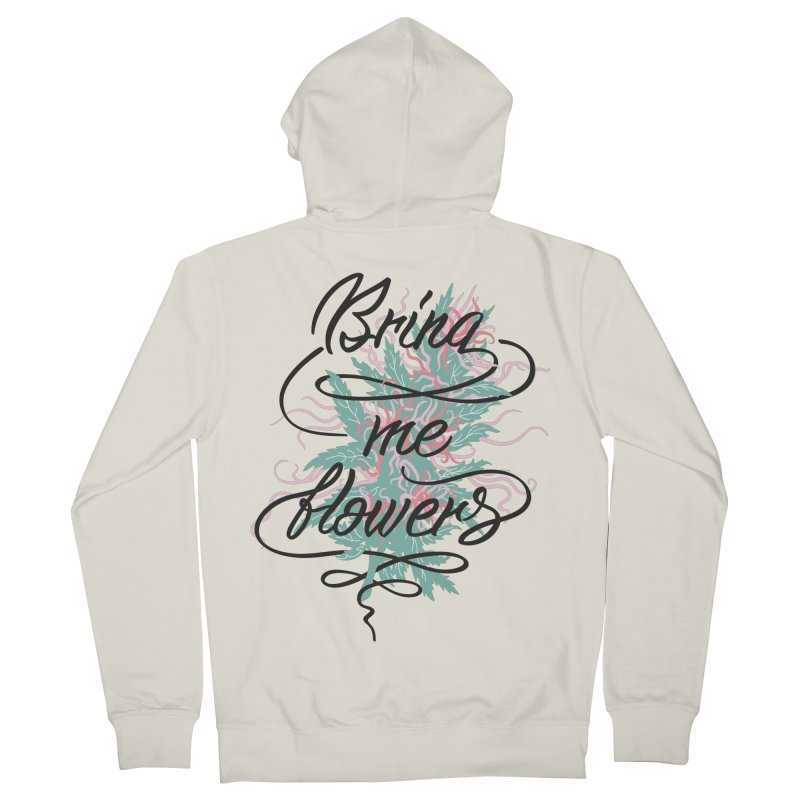 Bring me flowers Men's French Terry Zip-Up Hoody by Karina Zlott