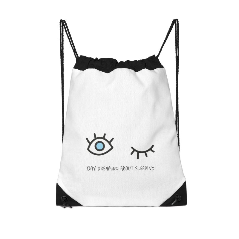 Day dreaming about sleeping Accessories Drawstring Bag Bag by Kika