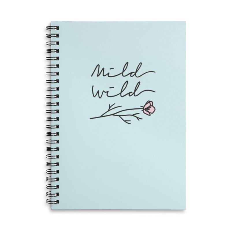 Mild Wild Accessories Lined Spiral Notebook by Kika
