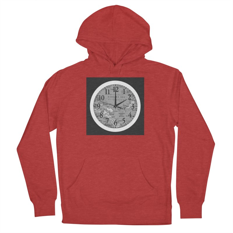 """Time and a Map 1"" Men's French Terry Pullover Hoody by Karmic Reaction Art"