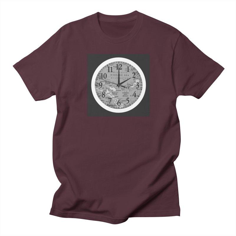 """Time and a Map 1"" Men's Regular T-Shirt by Karmic Reaction Art"
