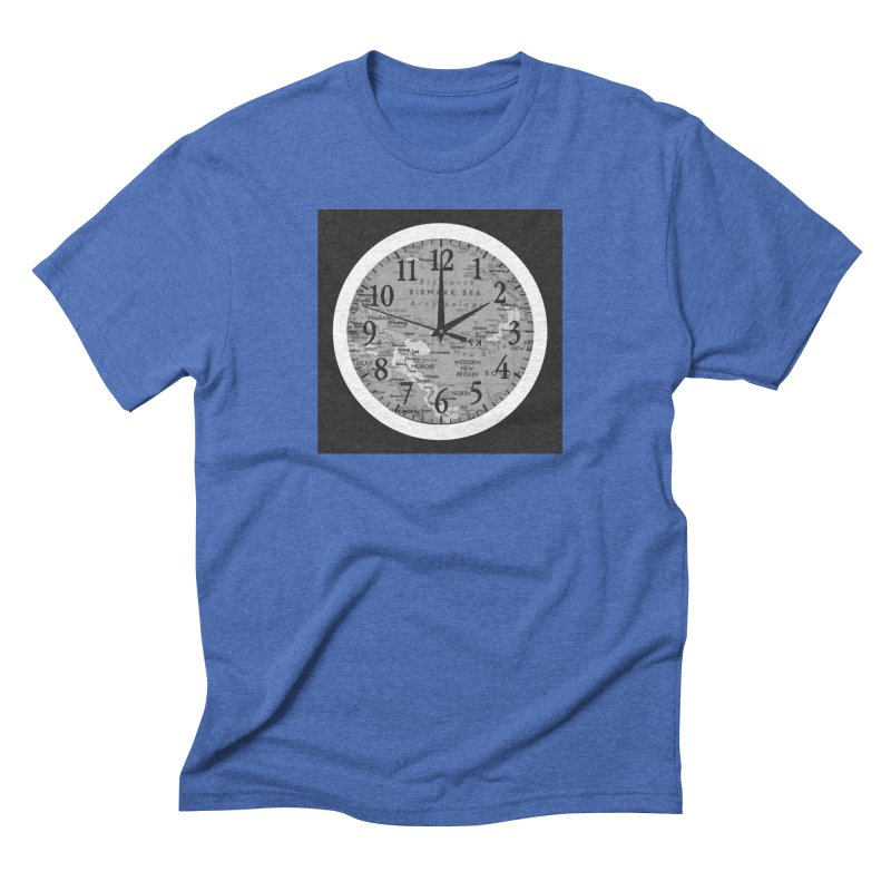 """""""Time and a Map 1"""" Men's Triblend T-Shirt by Karmic Reaction Art"""