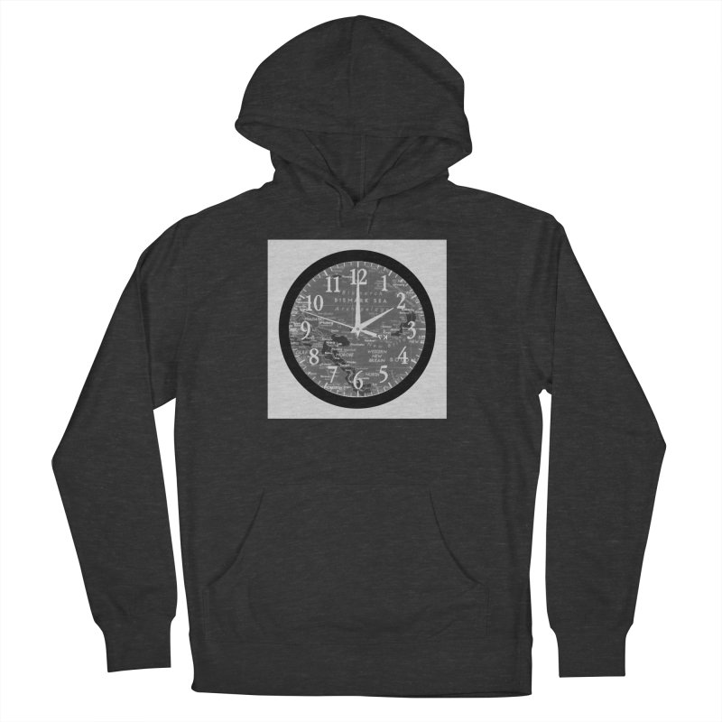 """""""Time and a Map 2"""" Men's French Terry Pullover Hoody by Karmic Reaction Art"""