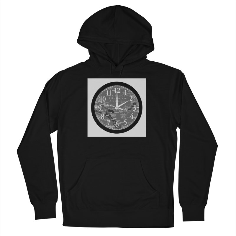 """Time and a Map 2"" Men's French Terry Pullover Hoody by Karmic Reaction Art"