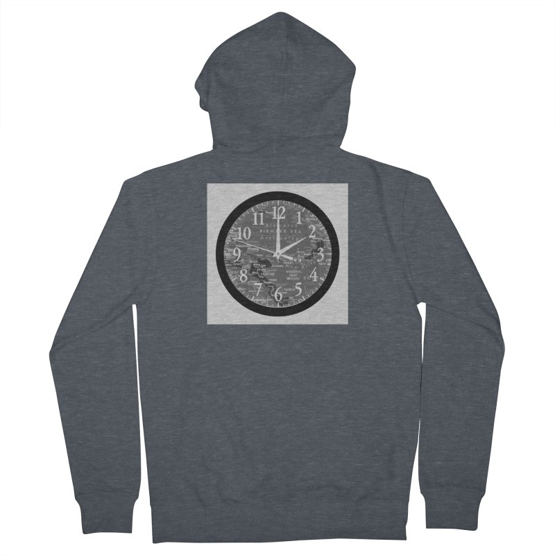 """Time and a Map 2"" Men's French Terry Zip-Up Hoody by Karmic Reaction Art"