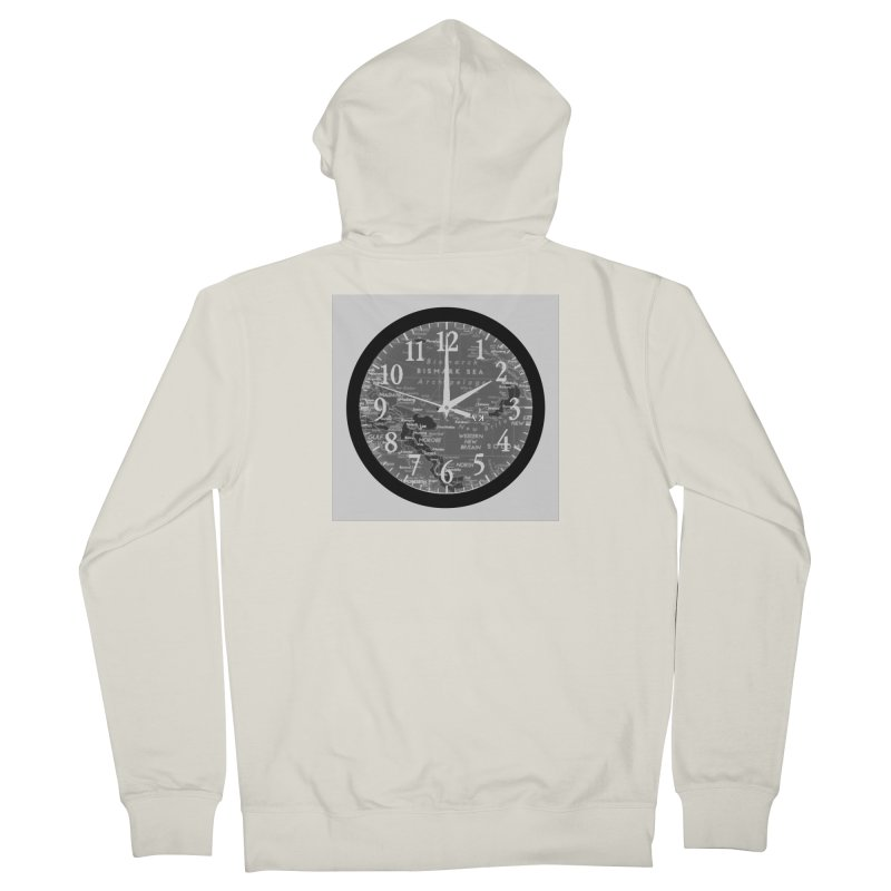 """""""Time and a Map 2"""" Men's French Terry Zip-Up Hoody by Karmic Reaction Art"""