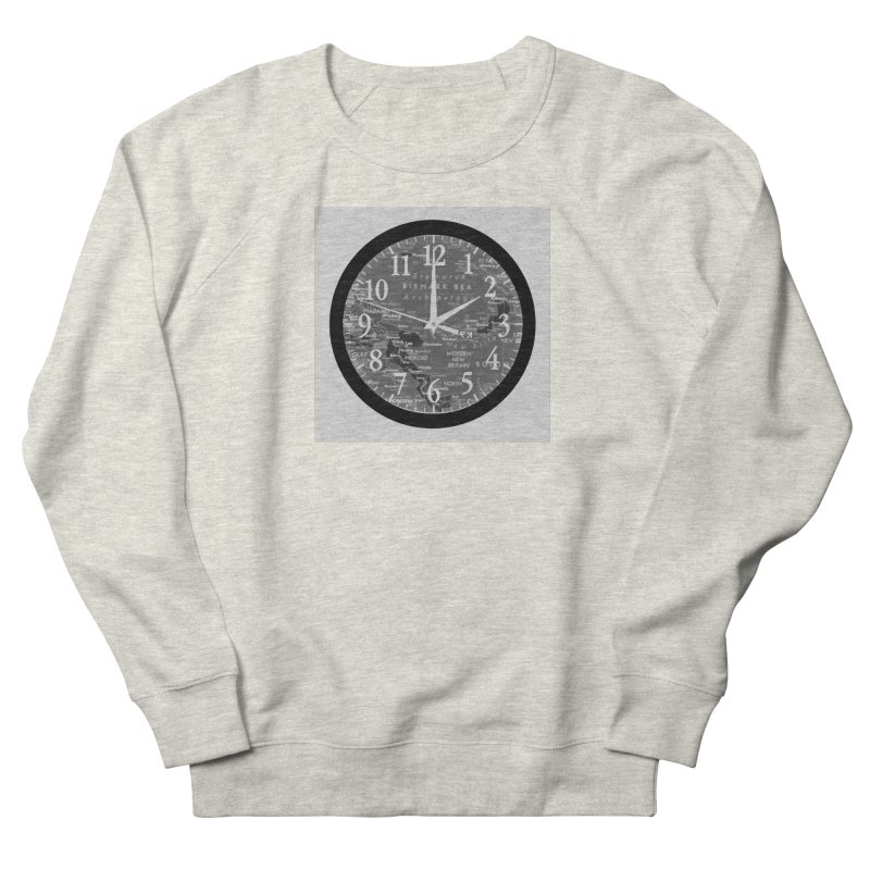 """""""Time and a Map 2"""" Men's French Terry Sweatshirt by Karmic Reaction Art"""