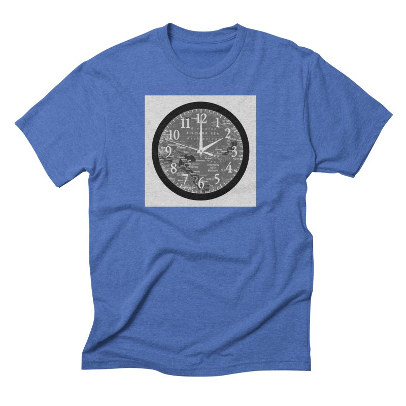 """""""Time and a Map 2"""" Men's Triblend T-Shirt by Karmic Reaction Art"""