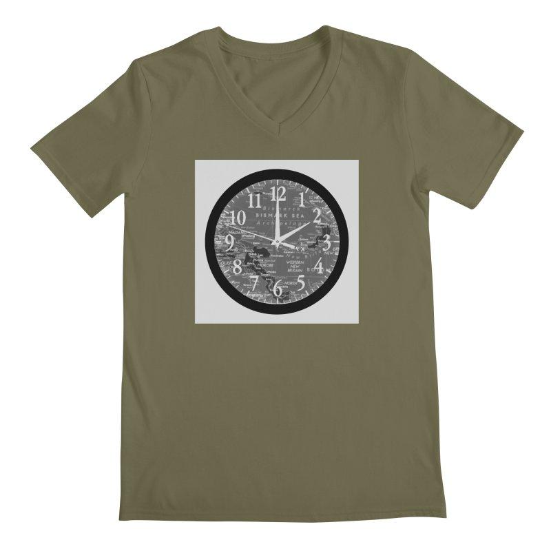 """Time and a Map 2"" Men's Regular V-Neck by Karmic Reaction Art"