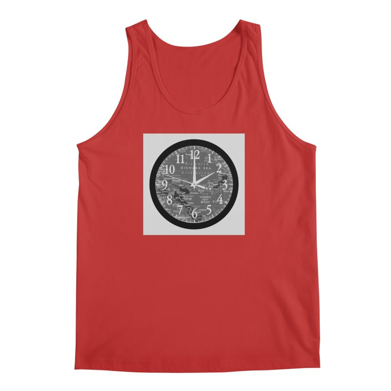 """Time and a Map 2"" Men's Regular Tank by Karmic Reaction Art"
