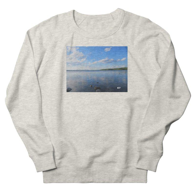 Atlantic Seascape 2 Men's French Terry Sweatshirt by Karmic Reaction Art