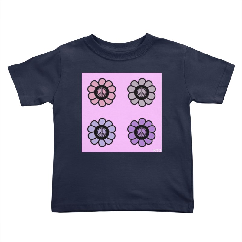 Flower Power and Peace Kids Toddler T-Shirt by Karmic Reaction Art