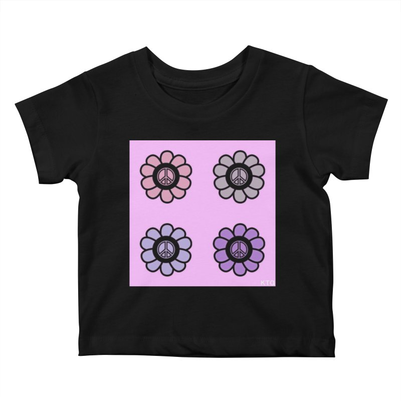 Flower Power and Peace Kids Baby T-Shirt by Karmic Reaction Art