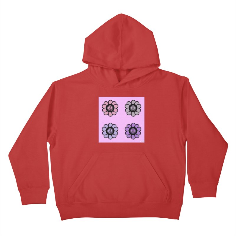 Flower Power and Peace Kids Pullover Hoody by Karmic Reaction Art