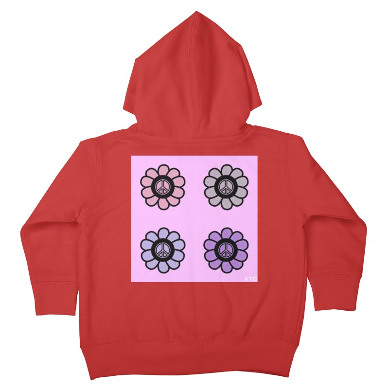 Flower Power and Peace Kids Toddler Zip-Up Hoody by Karmic Reaction Art