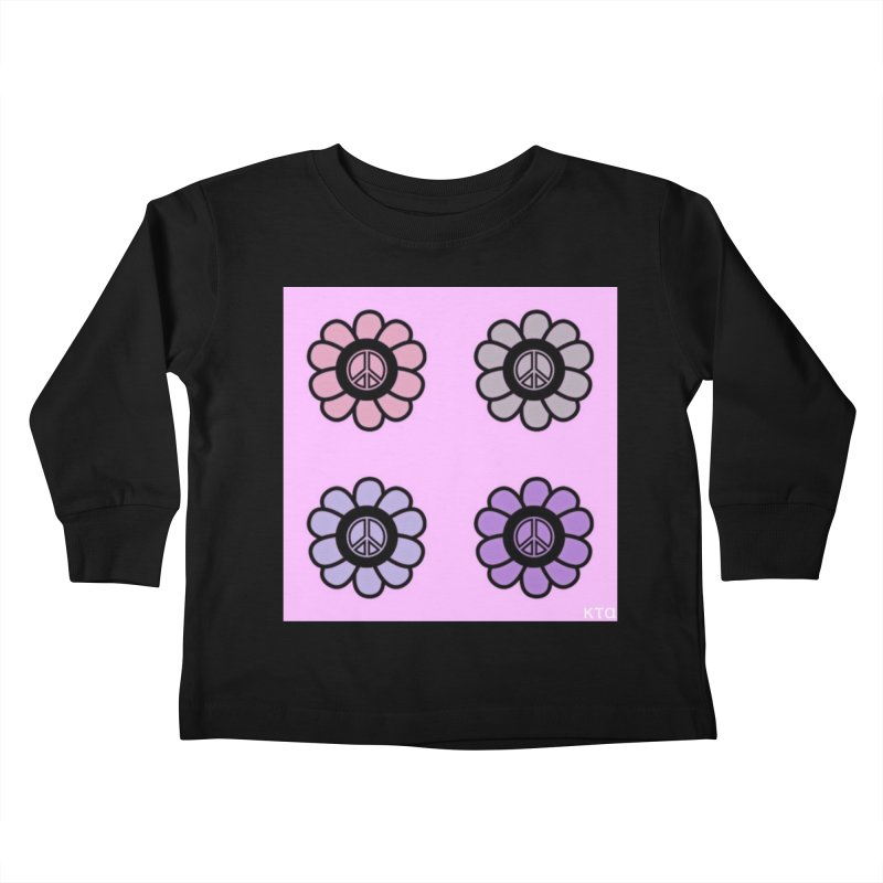 Flower Power and Peace Kids Toddler Longsleeve T-Shirt by Karmic Reaction Art