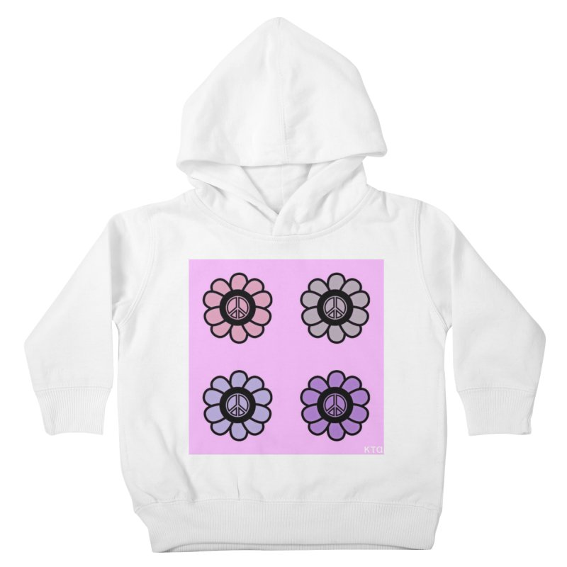 Flower Power and Peace Kids Toddler Pullover Hoody by Karmic Reaction Art