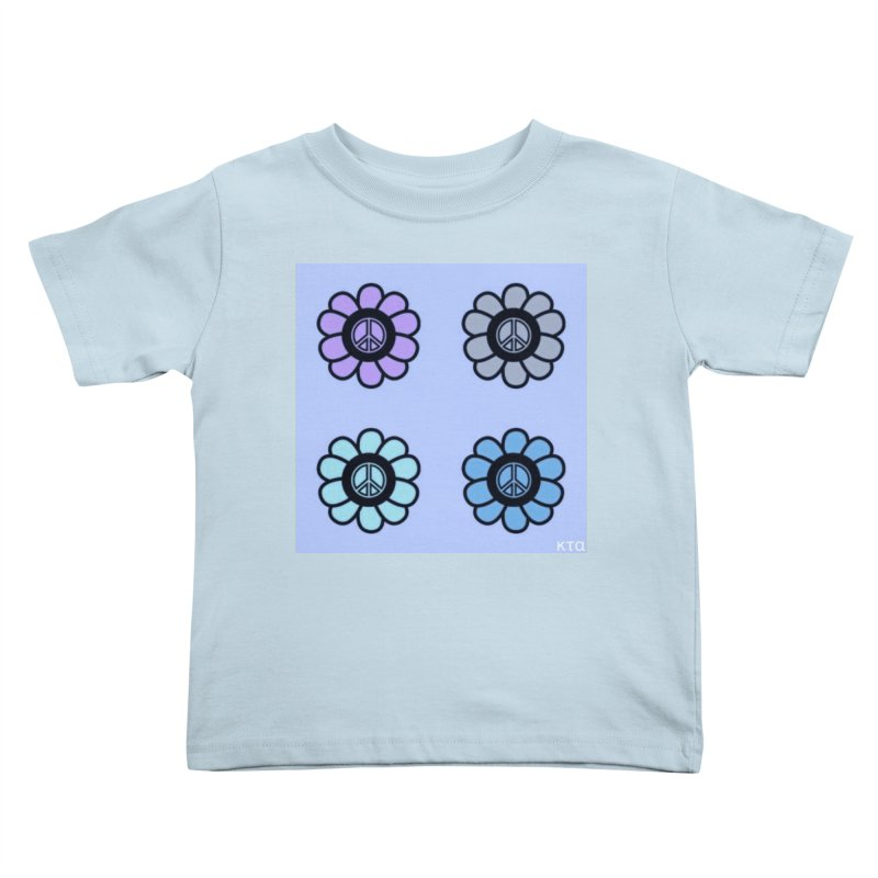 Flower Power and Peace 2 Kids Toddler T-Shirt by Karmic Reaction Art