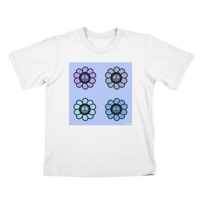 Flower Power and Peace 2 Kids T-Shirt by Karmic Reaction Art