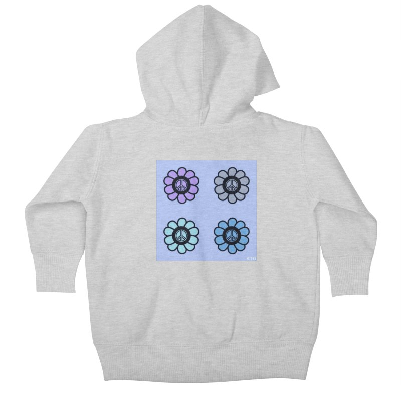 Flower Power and Peace 2 Kids Baby Zip-Up Hoody by Karmic Reaction Art