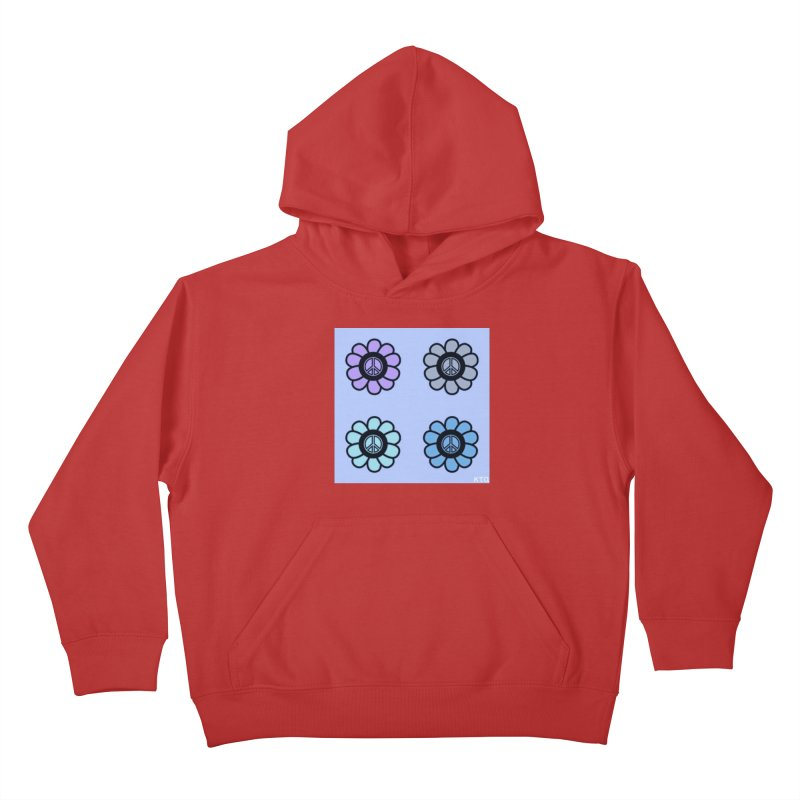 Flower Power and Peace 2 Kids Pullover Hoody by Karmic Reaction Art