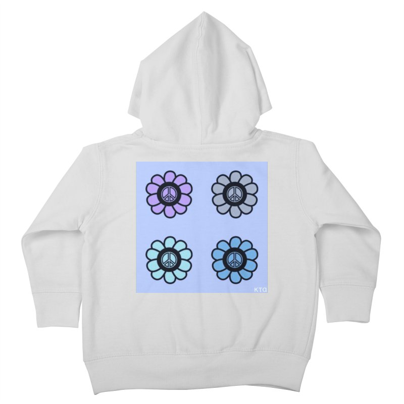 Flower Power and Peace 2 Kids Toddler Zip-Up Hoody by Karmic Reaction Art